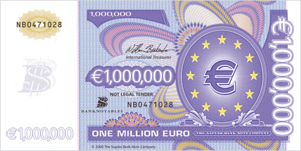 One Million Euro note front