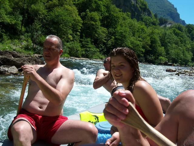 Raft tour with our team on Neretva