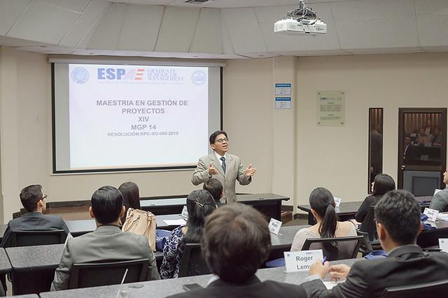 ESPAE recibe a estudiantes de la Maestría de Gestión de Proyectos (MGP14)