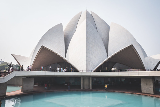 Delhi - Lotus Temple-13 3 Unique Things to do in Delhi India | Would you take a rickshaw tour in India? | Visit the Lotus Temple in Delhi | The 3 most popular markets and bazaars in Delhi | Unique experiences in Delhi