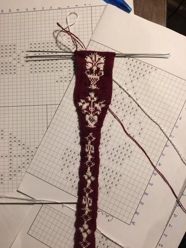 17th Century Knit Garters Progress - 10/16/17