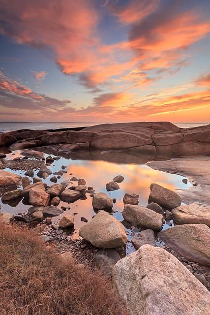 Hazard Rocks Tidepools at Sunrise