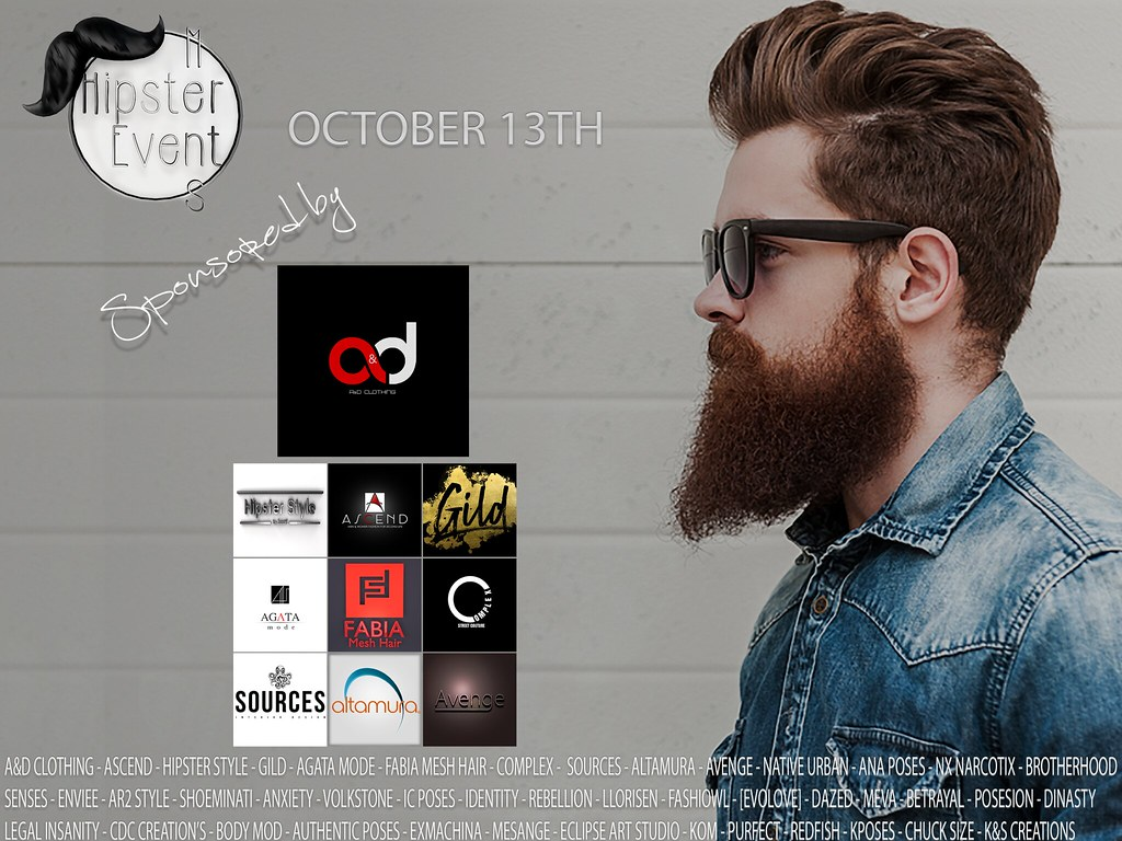 Hipster Men Event OCTOBER ROUND