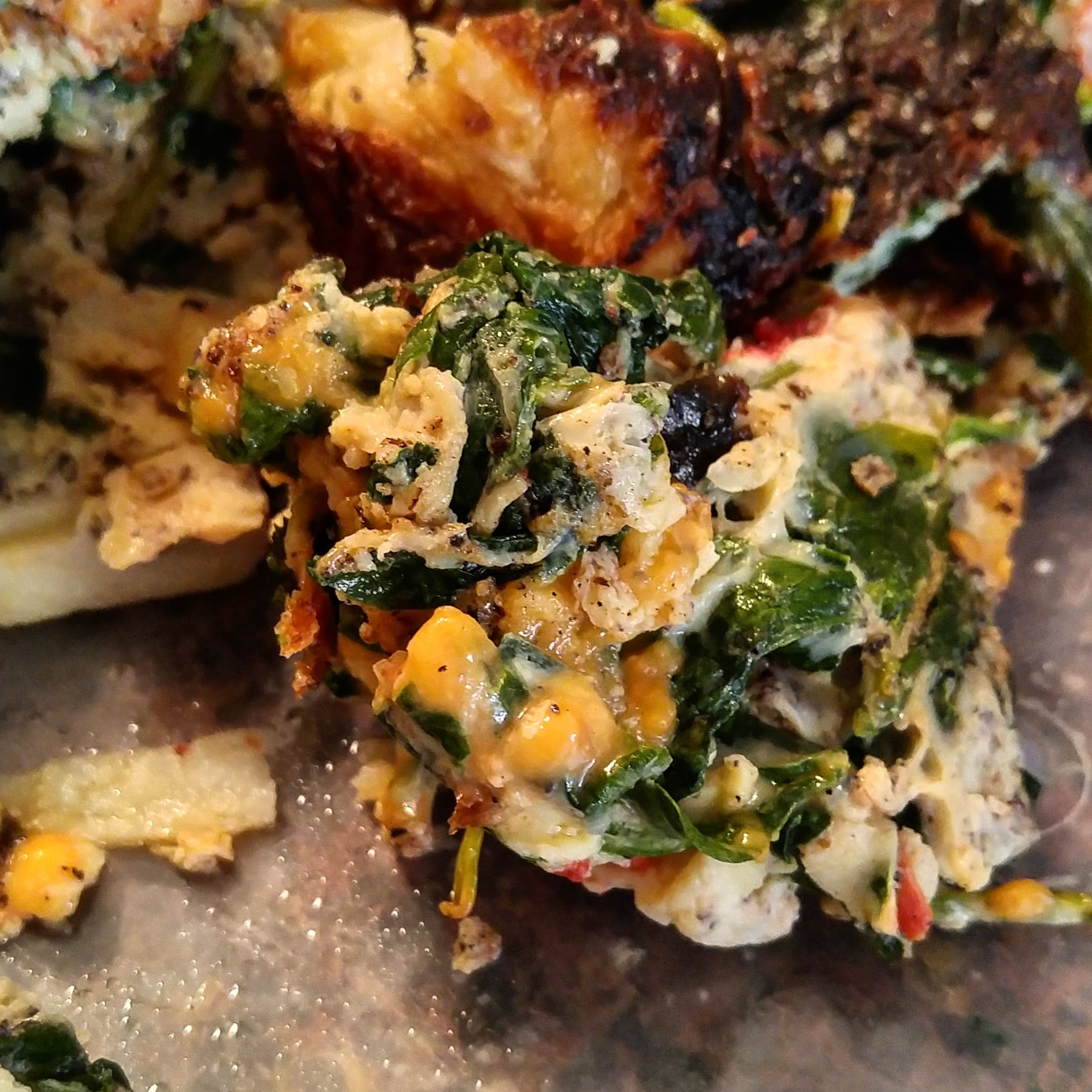 Spinach and Potato Fritatta