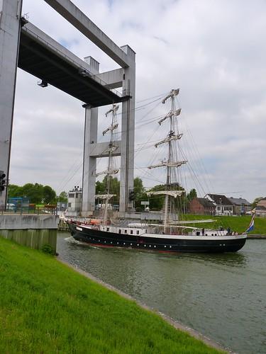 Le voilier Mercedes à Tisselt