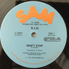 K.I.D.:DON'T STOP(LABEL SIDE-A)