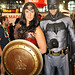 Wonder Woman and Batman Cosplay Closeup