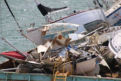 Destroyed Boats in Key West, Florida - Pictures from Empress of the Seas Cruise - October 12, 2017