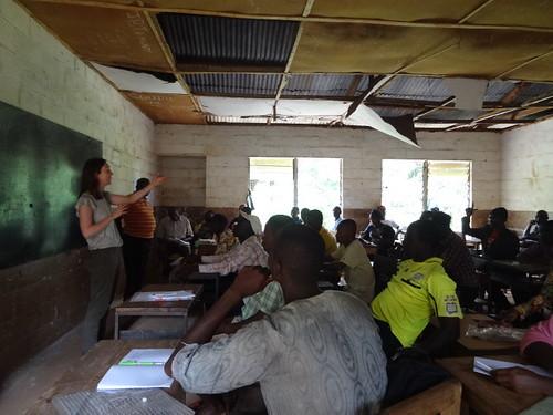 Joanna teaching fellow educators. From The Street Child International Teacher Training Programme: One Educator's Story