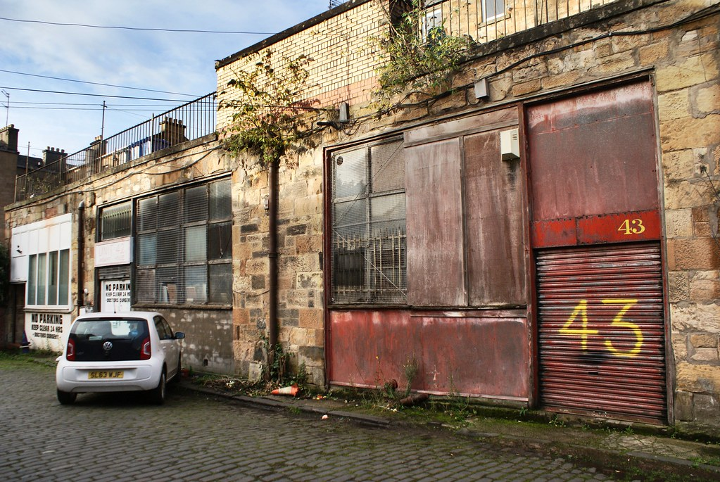 Ancienne construction industrielle dans le quartier de Finnieston, Glasgow.