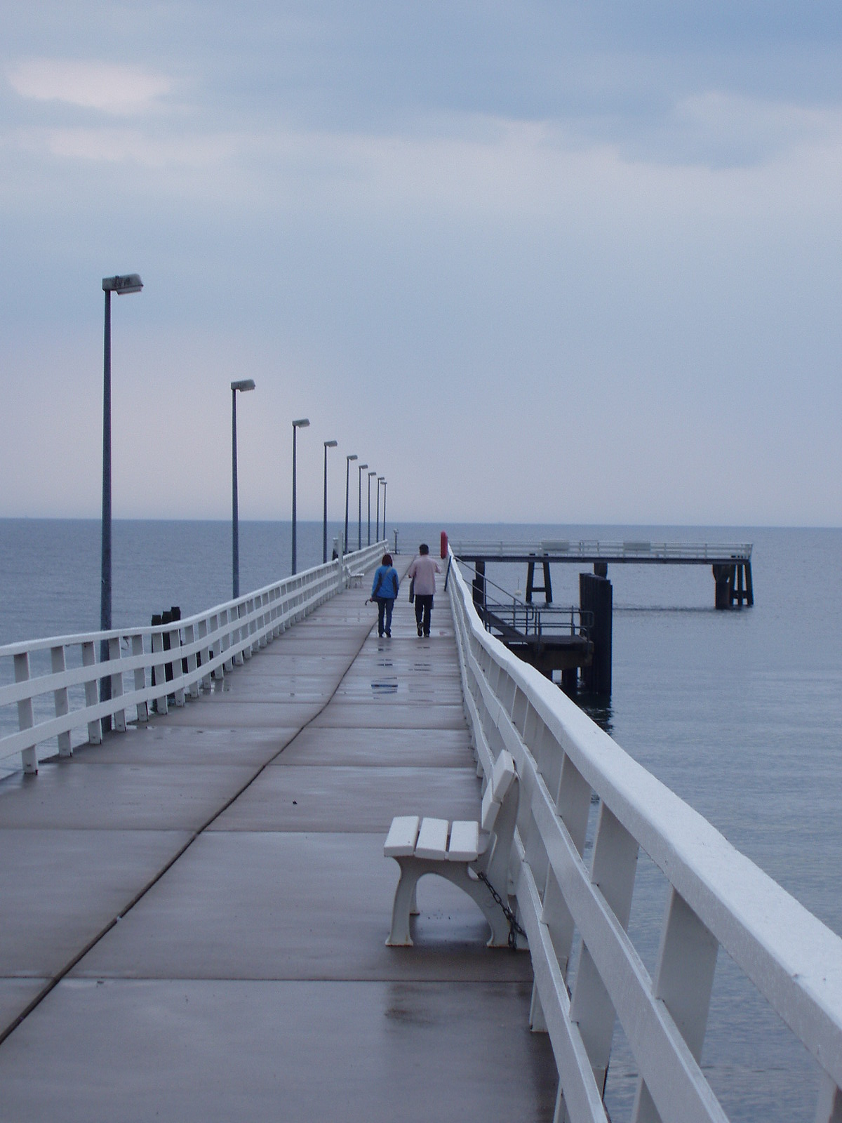 pier on a rainy afternoon, Timmendorfer Strand