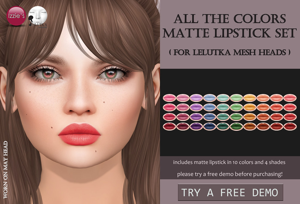 All The Colors Matte Lipstick Set LeLutka (for FLF)