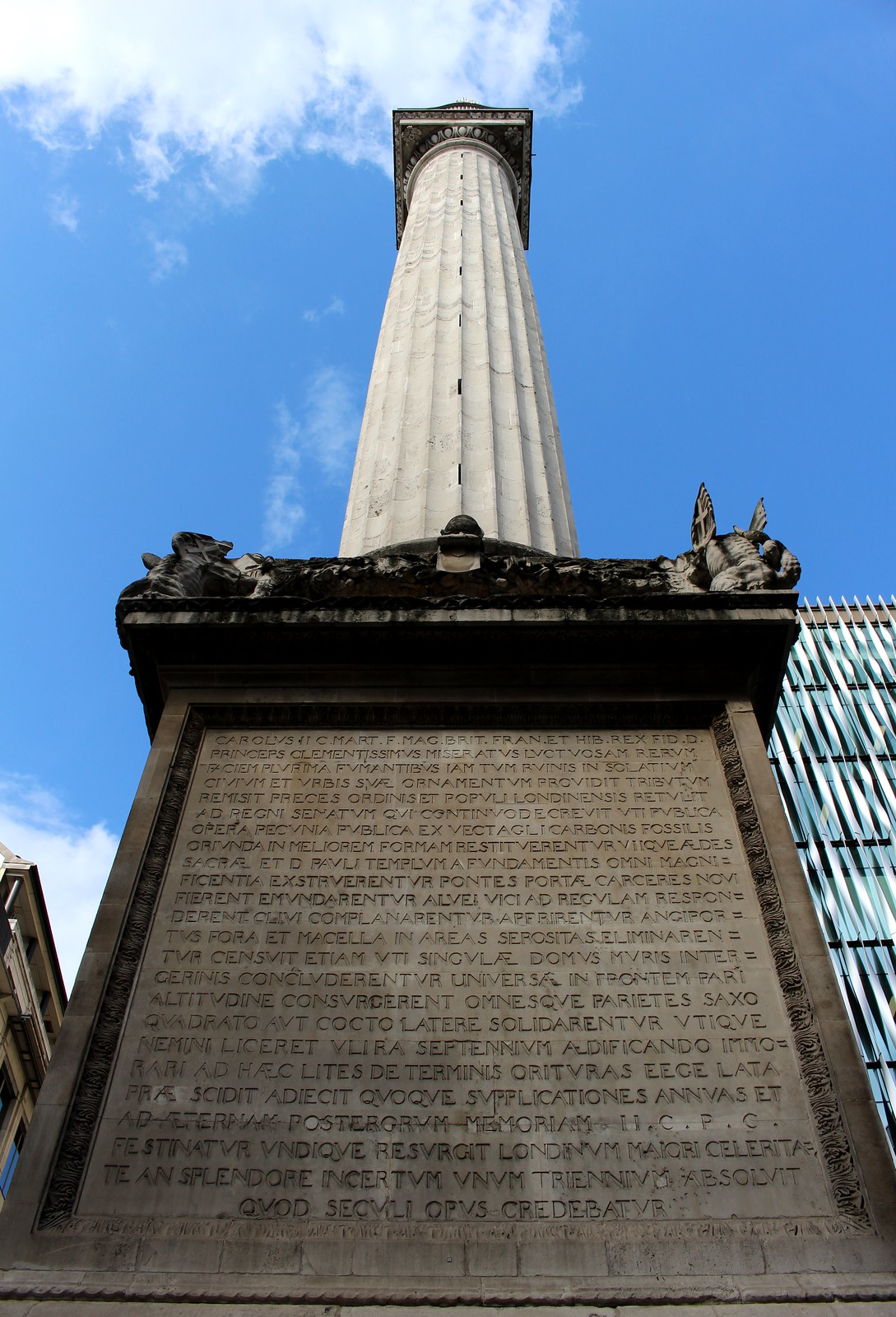 The Monument to the Fire Of London