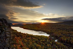 Sunrise at Lake of the Clouds