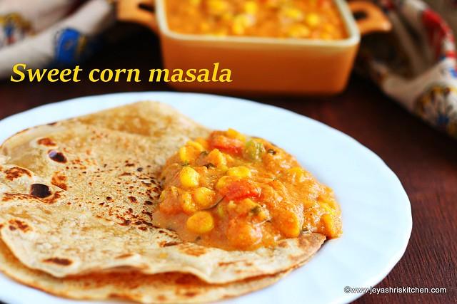 Sweet corn-masala