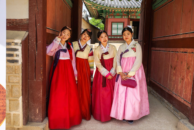 Yet another traditional dress group