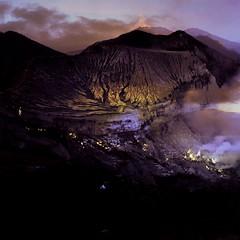 Wanna see real volcano ?  Bromo Volcano &  Ijen Crater,  East Java, Indonesia. You must be here.  https://www.ijenbridge.com/