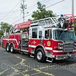 Demarest NJ Ladder Fire Truck, 2017 Northern Valley Fire Chiefs Parade, Northvale, New Jersey