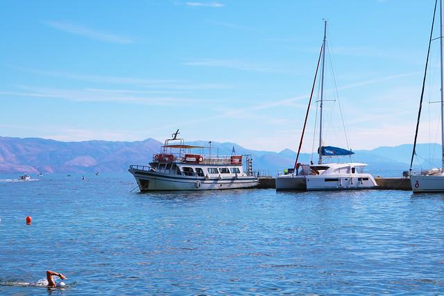 Boats in Greece sea
