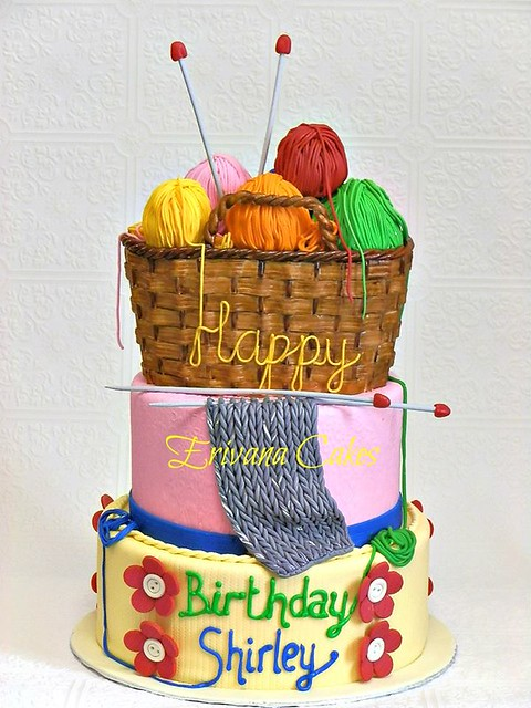 Knitting Themed Cake by Erivana Cakes