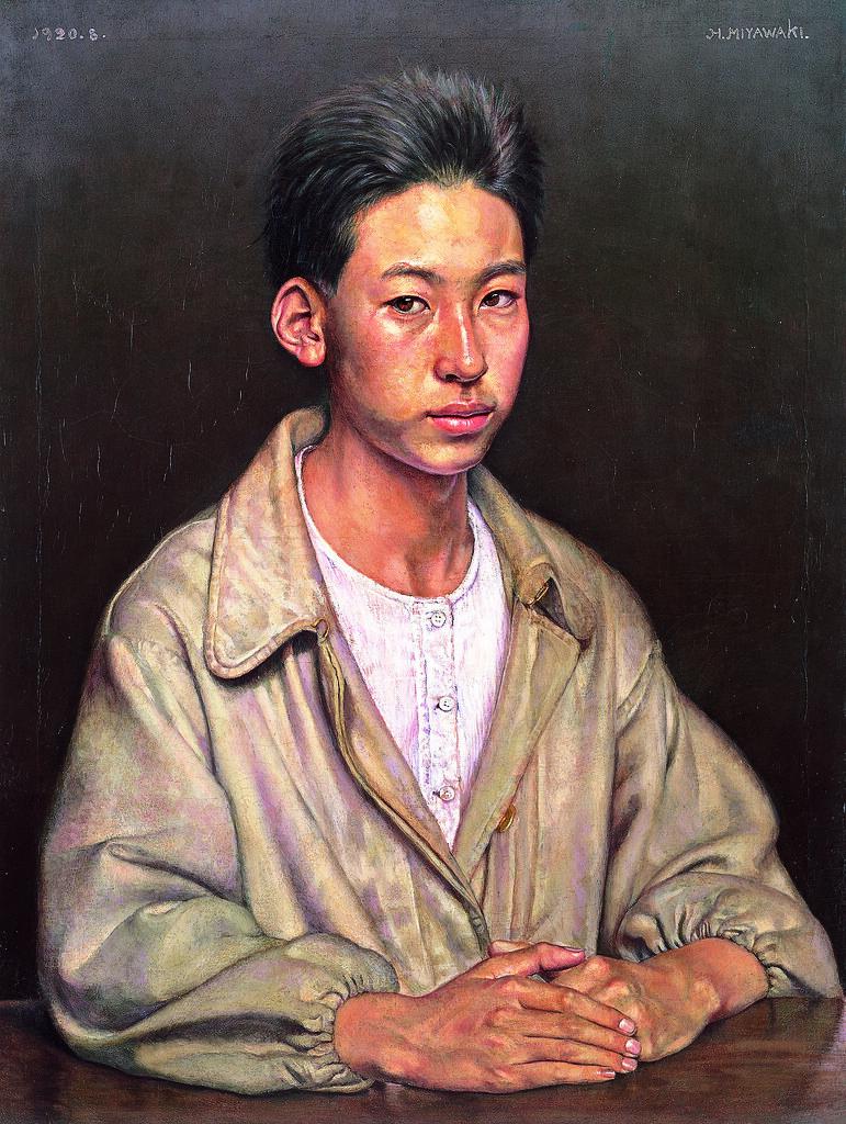 宮脇晴《自画像》(1920年、愛知県美術館)