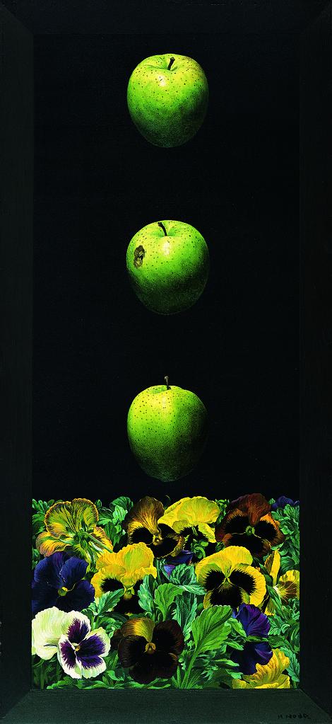 野田弘志《パンジー 其の参》(1975年、碧南市藤井達吉現代美術館)