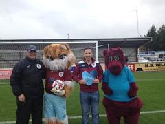 Sparky at Taunton FC