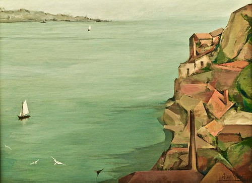 Lisbon and the Tagus River (1960) - Abel Manta (1888-1982)