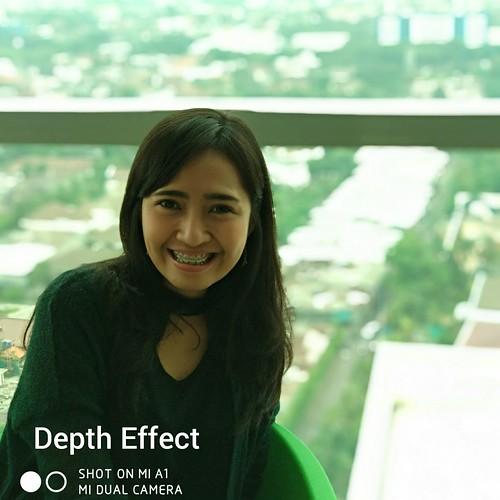 Hasil foto dengan modus Depth Effect