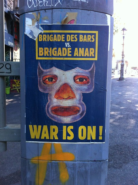 brigade des bars, brigade anar, the war is on! Manifesten