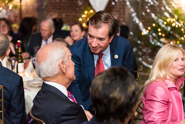 Congressman Ed Royce greeting Vice President Biden - 2017 Global Leadership Awards