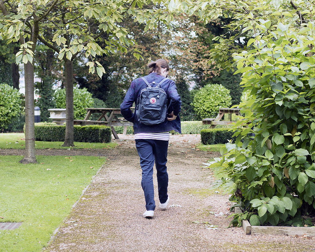 Kipling navy backpack