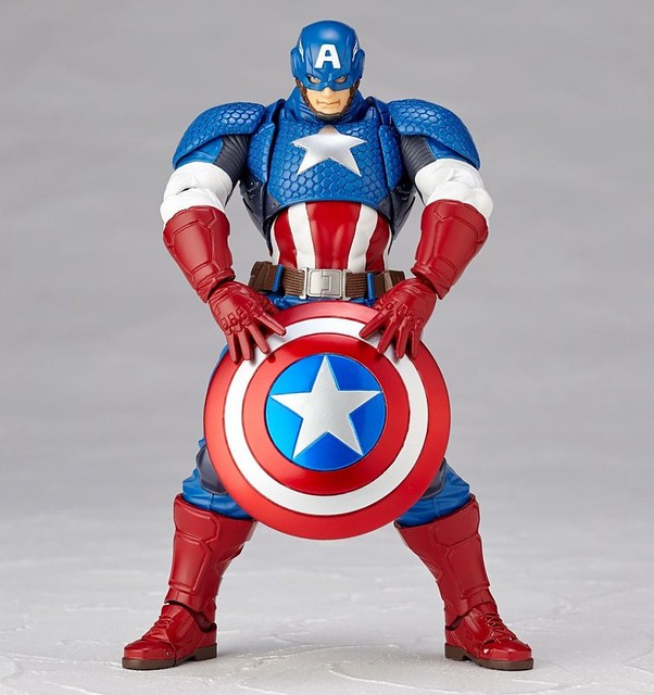 海洋堂 Amazing Yamaguchi 正義的化身「美國隊長」最新作!figure complex AMAZING YAMAGUCHI Captain America キャプテン・アメリカ