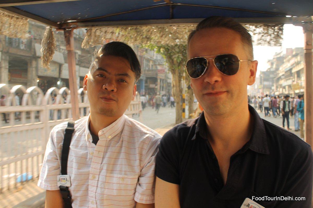 A rickshaw ride