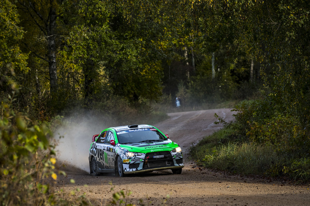 16 Remennik Sergey and Rozin Mark, Russian Performance Motorsport, Mitsubishi Lancer Evo X action during the 2017 European Rally Championship ERC Liepaja rally,  from october 6 to 8, at Liepaja, Lettonie - Photo Gregory Lenormand / DPPI