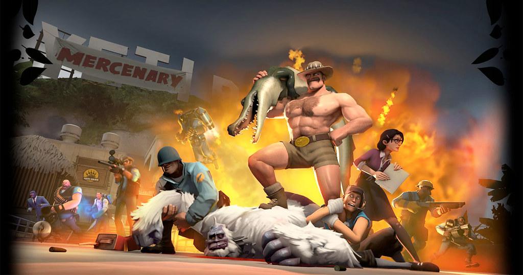Team Fortress 2 อัพเดทครั้งใหญ่เพิ่มแผนที่ใหม่ Mercenary Park