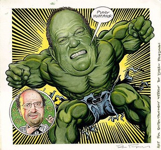 "Hulk Harvey (Weinstein) Entertainment Weekly 2000 Drew Friedman ""My Way"" bit.ly/2y173S1 #DrewFriedman #HarveyWeinstein"