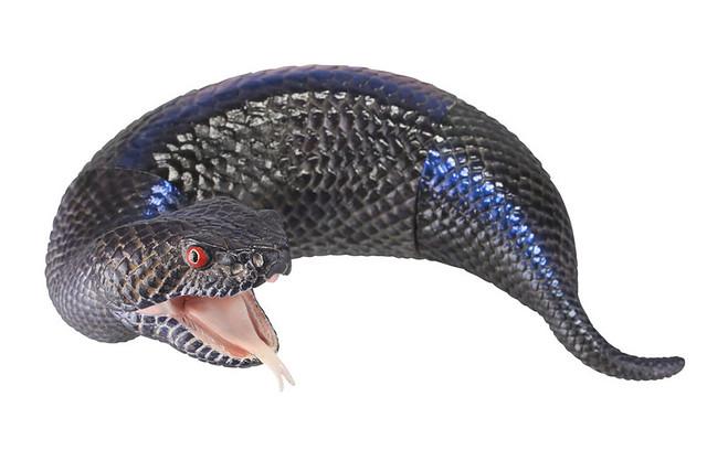 海洋堂 SOFUBI TOY BOX015C 「黒色野槌蛇」!! ソフビトイボックス 015C ツチノコ黒