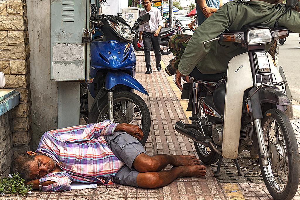 Homeless man in Phu Lam--Saigon
