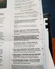 Today's Washington Post non-fiction bestseller list is highly unusual. Our reading habits are getting better?
