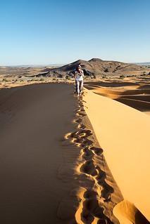 Footsteps on dunes