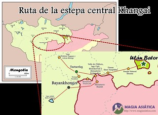 Ruta de la estapa central forestal