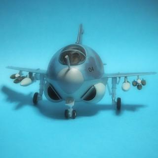 【模型】 A6 イントルーダー (初代たまご飛行機シリーズNo.7)#ハセガワ #たまごひこーき