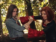 Faith vs Vamp Willow - upclose fighting