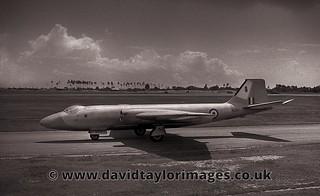 1962 75 Sqn RNZAF Canberra T4 WD963 departing RAF Changi, Singapore 10 Jan 1962