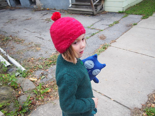 Peg+Cat on a walk around the neighborhood