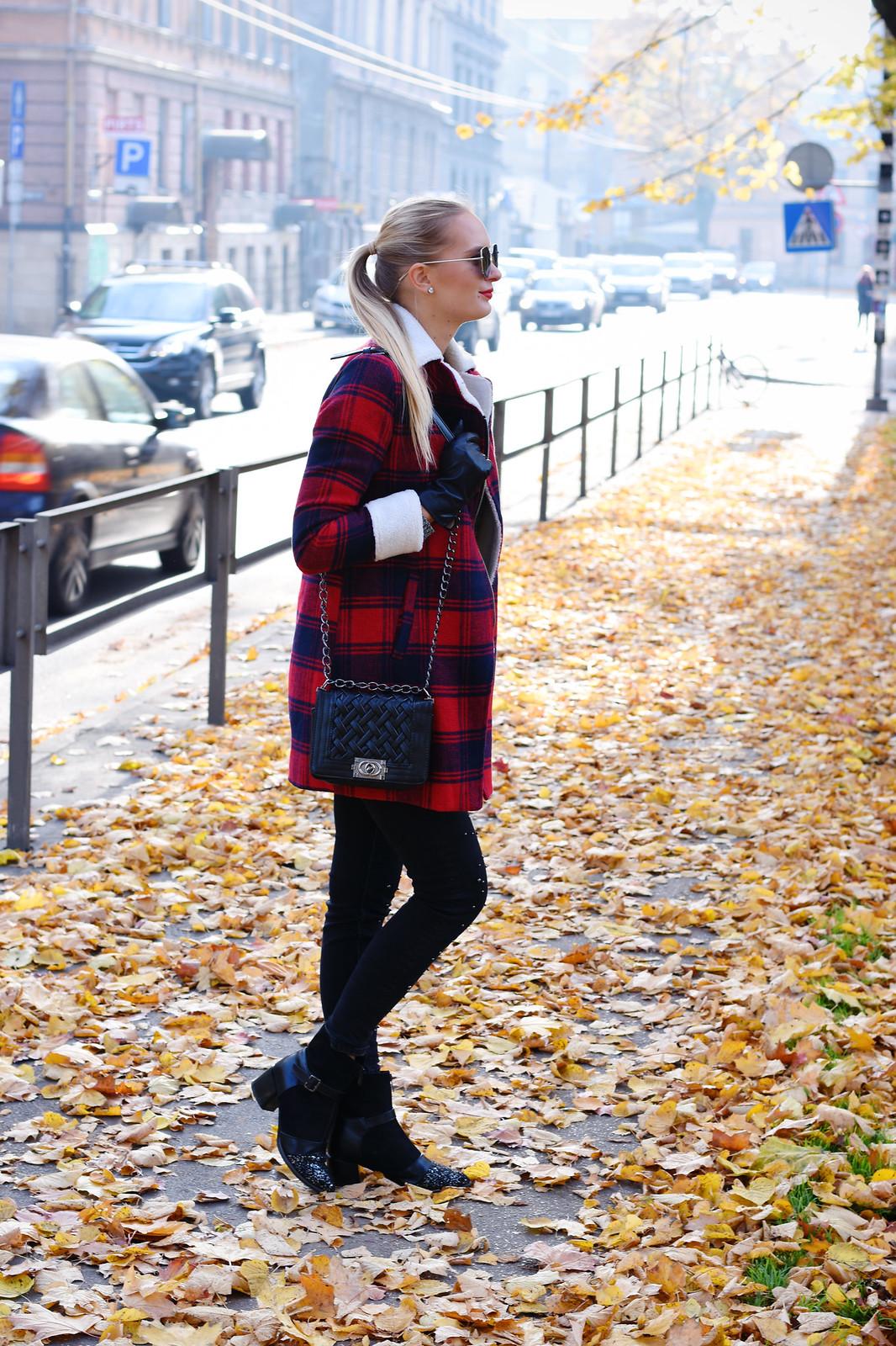 Plaid coat outfit inspiration