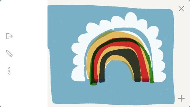 Rainbow cloud pattern robayre