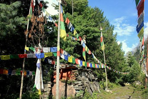 J10 : 30 septembre 2017 : 4ème jour du trek : de Chame (2710 m) à Upper Pisang (3330 m)