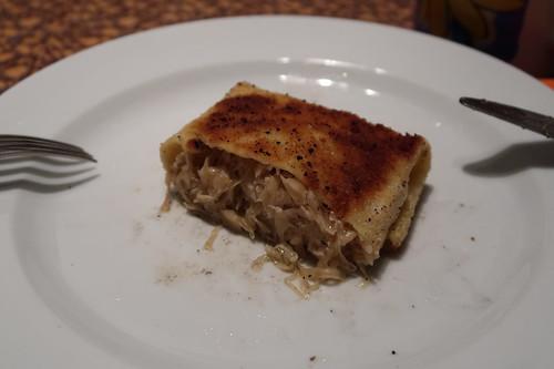 Krokety mit Sauerkraut gefüllt